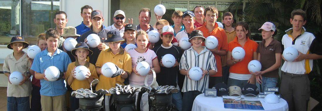 Junior kids with Autograph Golf Balls