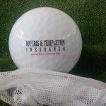 Golf Ball Pack Pad Printed for Morris & Templeton Insurance